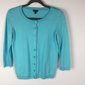 Talbots Charming Cardigan Aqua Splash Small Petite
